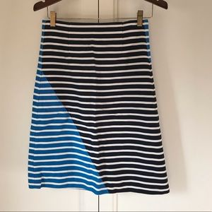 J. Crew Striped Nautical A-Line Skirt